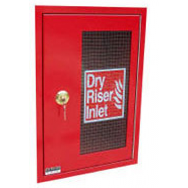 HC002 Vertical Inlet Dry Riser Cabinet - Red